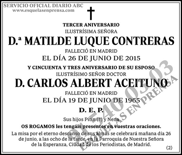 Matilde Luque Contreras